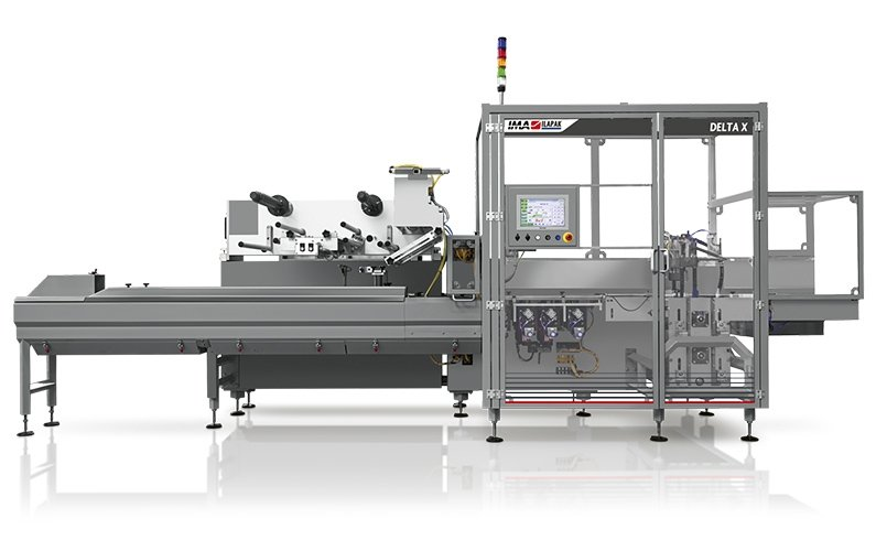 Ima Ilapak Delta X horizontal flow wrap packaging machine flow wrapper form fill and seal with for hermetic sealing